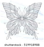 patterned butterfly on the... | Shutterstock .eps vector #519918988