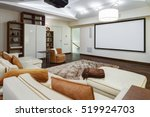 theater room in luxury home... | Shutterstock . vector #519924703