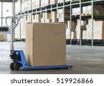 manual forklift pallet with a... | Shutterstock . vector #519926866