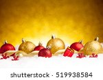 Golden And Red Christmas Ball...