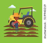 an african american farmer in...   Shutterstock .eps vector #519940219