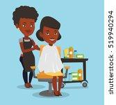 an african american female... | Shutterstock .eps vector #519940294