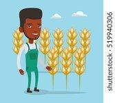 an african american happy... | Shutterstock .eps vector #519940306