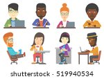 young happy office worker... | Shutterstock .eps vector #519940534