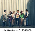teenagers lifestyle casual... | Shutterstock . vector #519941008
