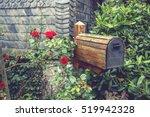 Wooden Mail Box In Flower...