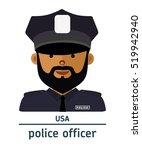 avatar usa police officer on...   Shutterstock .eps vector #519942940
