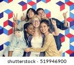 diversity students friends...   Shutterstock . vector #519946900