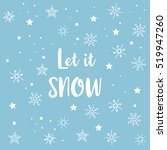 """let it snow"" card with ... 