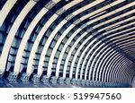 train tunnel. symmetric steel... | Shutterstock . vector #519947560