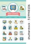icon set financial vector | Shutterstock .eps vector #519948106