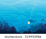 silhouette of coral reef with... | Shutterstock .eps vector #519953986