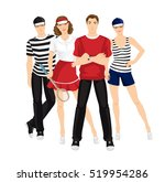 group of people in clothes for... | Shutterstock .eps vector #519954286