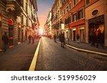 people walking on wall street... | Shutterstock . vector #519956029