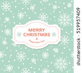 christmas vector illustration.... | Shutterstock .eps vector #519957409