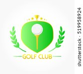a golf ball upon a tee on... | Shutterstock .eps vector #519958924