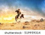 kazakh eagle hunter in... | Shutterstock . vector #519959314