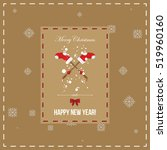 merry christmas and happy new... | Shutterstock .eps vector #519960160