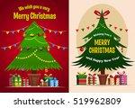 christmas tree   gift boxes ... | Shutterstock .eps vector #519962809