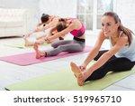 three delighted girls having...   Shutterstock . vector #519965710