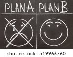Small photo of Texture of a blackboard with Plan A and Plan B. Plan A as compared to the plan B