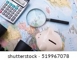 travel budget money on your map. | Shutterstock . vector #519967078