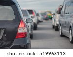 traffic jam with row of car on... | Shutterstock . vector #519968113