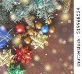 new year  christmas. christmas... | Shutterstock . vector #519968524