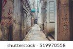 walking via hidden gate | Shutterstock . vector #519970558