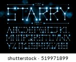 vector of stylized starry font... | Shutterstock .eps vector #519971899