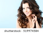 portrait of a beautiful young... | Shutterstock . vector #519974584
