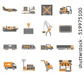 cargo transport  packaging ... | Shutterstock .eps vector #519975100