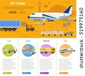 air cargo infographics with... | Shutterstock .eps vector #519975160