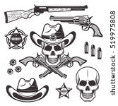 sheriff or marshal set of... | Shutterstock .eps vector #519975808