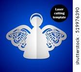 laser cutting template. laser... | Shutterstock .eps vector #519976390