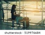 asian woman passenger at the...   Shutterstock . vector #519976684