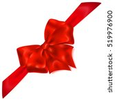 beautiful red bow with... | Shutterstock . vector #519976900