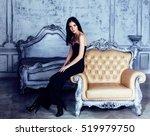 beauty young brunette woman in... | Shutterstock . vector #519979750
