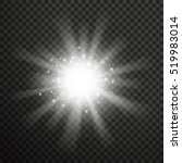 white glowing light burst... | Shutterstock .eps vector #519983014
