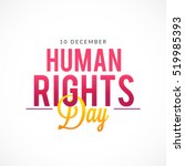 human rights day poster or... | Shutterstock .eps vector #519985393