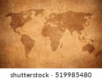 grunge map of the world | Shutterstock . vector #519985480