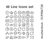 49 line icon set | Shutterstock .eps vector #519986728
