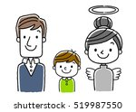 3 people family  wife and... | Shutterstock .eps vector #519987550