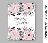 elegance wedding invitation... | Shutterstock .eps vector #519989704