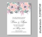 elegance wedding invitation...   Shutterstock .eps vector #519989749