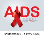 aids awareness red ribbon.... | Shutterstock .eps vector #519997228