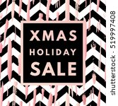 christmas holiday sale poster.... | Shutterstock .eps vector #519997408
