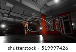 fitness man working out with... | Shutterstock . vector #519997426