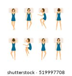 different sleeping poses set.... | Shutterstock .eps vector #519997708