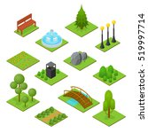 park set isometric view design... | Shutterstock .eps vector #519997714